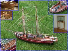 1/48 scale model ship Lilla Dan
