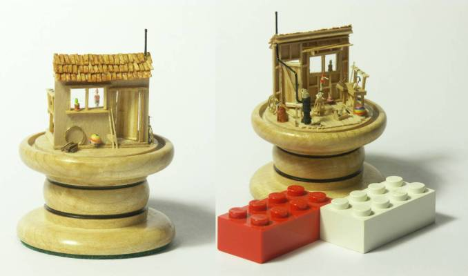 miniature Gepetto workshop by Maarten Meerman Max