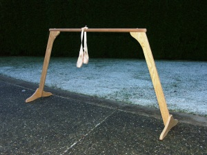 5 foot oak ballet barre