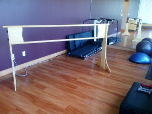 Double ballet barre 7foot