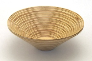 Plywood bowl top view