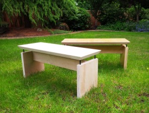 plywood benches