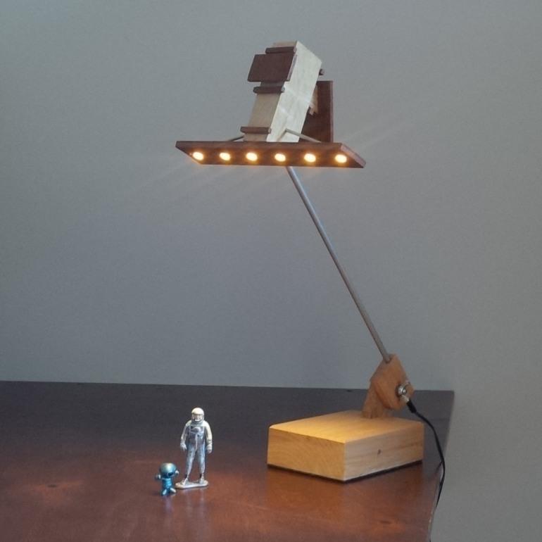 RCM radar satellite LED light desklamp